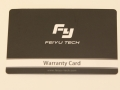 Feiyu-Tech-MiNi3D-Pro-warrenty-card