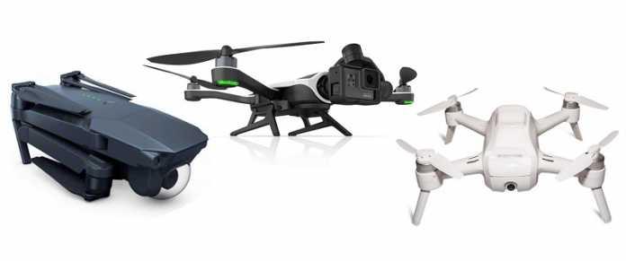 DJI Mavic, GoPro Karma and Yuneec Breeze selfie drones