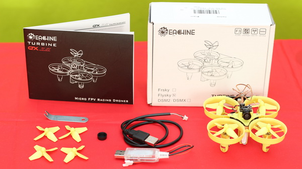 Eachine Turbine QX70 review - Package content