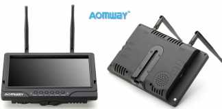 AOMWAY Upgraded FPV Monitor with DVR