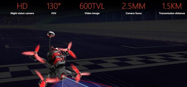 Walkera Furious 215 camera and FPV specs