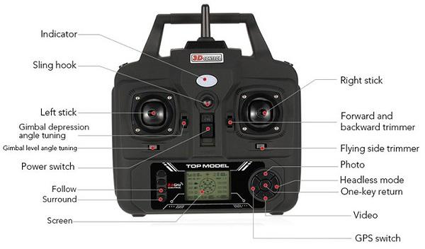 BAYANGTOYS X21 remote controller