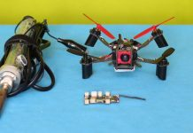 Flight controller repair of Eachine QX110 V-Tail quadcopter drone