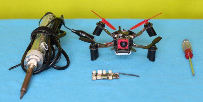 Flight controller repair of Eachine QX110 V-Tail quadcopter drone