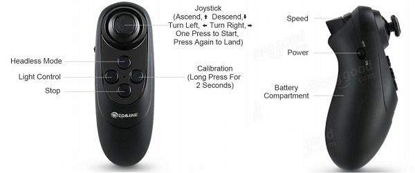 Eachine E56 remote controller