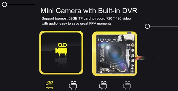 Turbowing CYCLOPS 3 DVR camera features