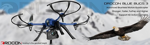 DROCON Blue Bugs drone for GoPro