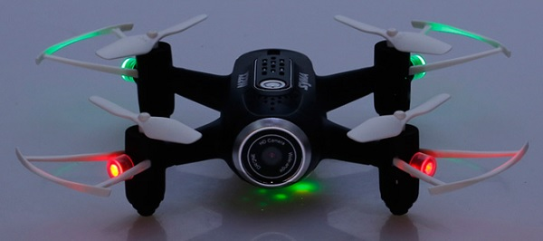 Syma X22W LEDs for night flight