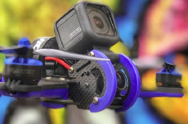 Vortex 230 Mojo FPV camera and GoPro mount