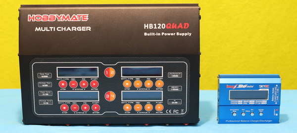 HobbyMate HB120QUAD review: Vs other charger