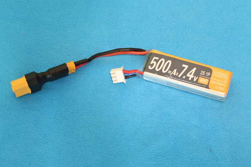 Crazepony_2s_500mAh_XT60_adapter