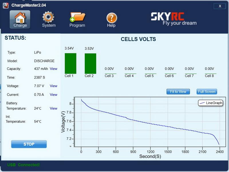 Crazepony_2s_500mAh_test_discharge_voltage