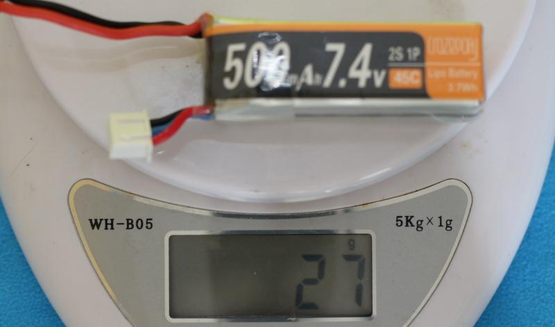 Crazepony_2s_500mAh_weight_27grams
