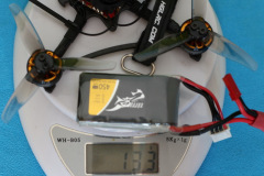 HGLRC_Petrel_120x_Pro_weight_with_3S_450mAh_battery_133gr