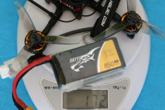 HGLRC_Petrel_120x_Pro_weight_with_3S_850mAh_battery_172gr