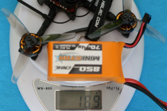 HGLRC_Petrel_120x_Pro_weight_with_4s_850mAh_battery_189gr