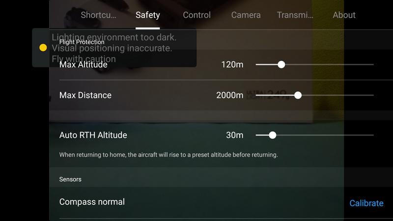 Mavic_Mini_APP_Safety_settings