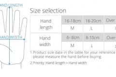 PGYTECH_Mavic_Mini_drone_gloves_size_chart