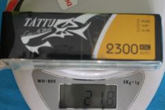 Tattu_LIPO-4S-2300mAh-45C-weight-218grams