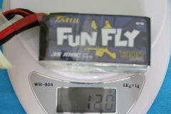 Tattu_LIPO-FunFly-3s-1300mAh-weight-120grams