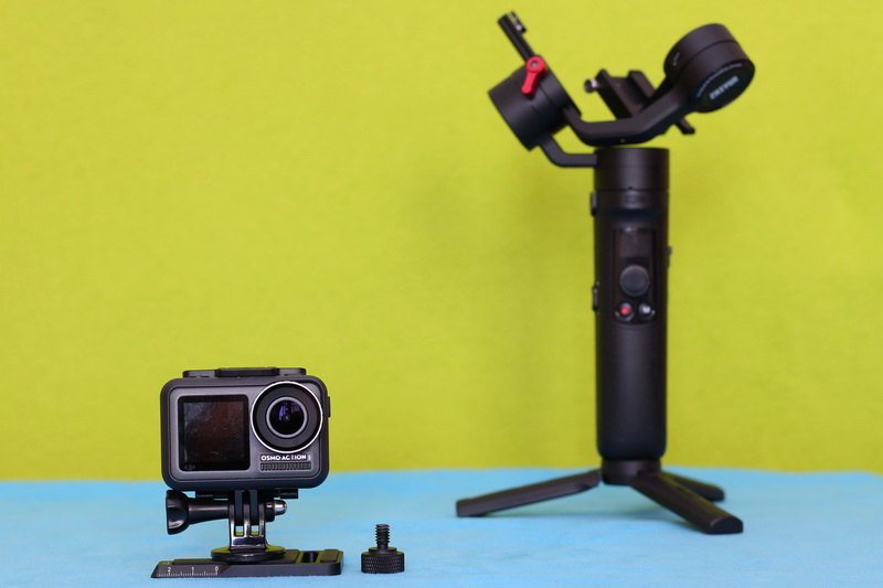 ZHIYUN_CRANE_M2_Osmo_Action_test_quick_release_plate