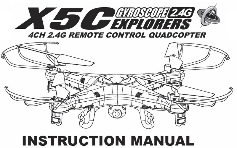 X5c User Manual First Quadcopter