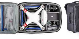 Airport Helipak quadcopter backpack