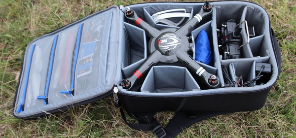 X380 quadcopter backpack