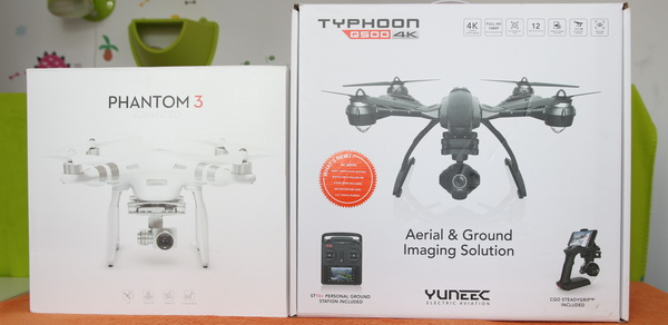 Yuneec Q500 4k vs DJI Phantom 3- Box