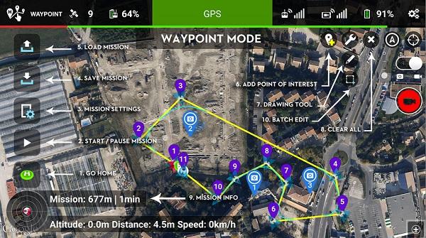 FlyLitchi APP - Waypoint mode