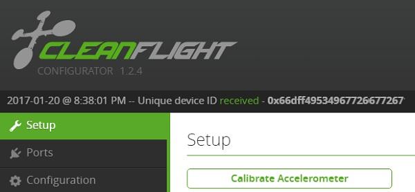 HobbyMate Q100 review - Cleanflight configuration
