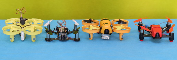 My micro FPV quadcopter squad