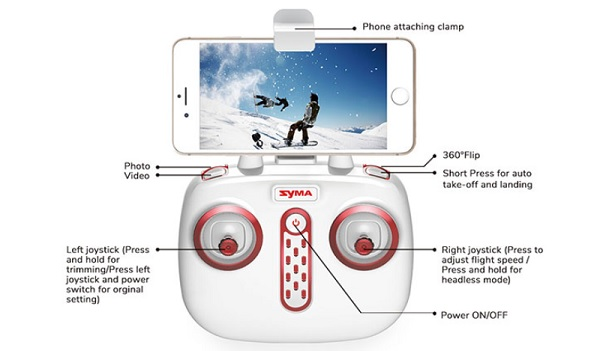 Syma X19W RC buttons