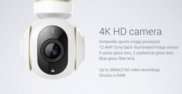 Xiaomi Mi 4k drone camera