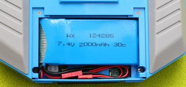 Taranis Q X7 - Li-Po Battery mod