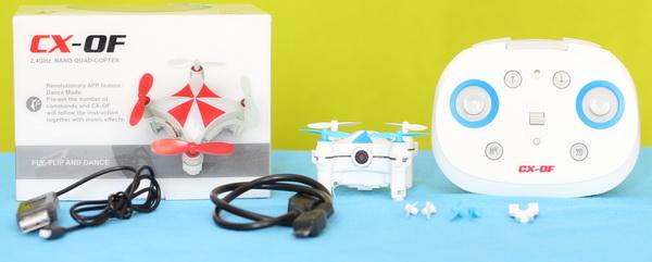 Cheerson CX-OF drone review - Box content