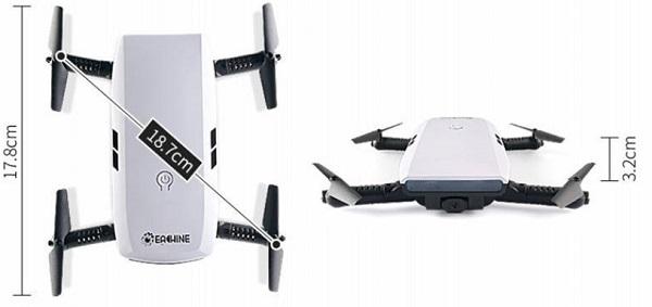 Eachine E56 drone size