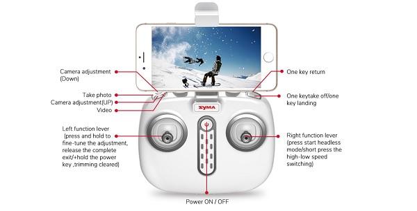 Syma X8Pro remote controller