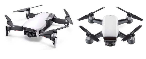 DJI Mavic Air vs DJI Spark side by side