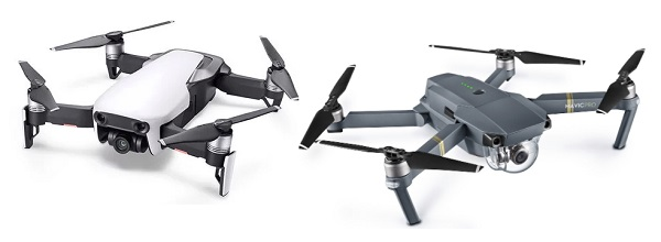 DJI Mavic Air vs Mavic Pro side by side