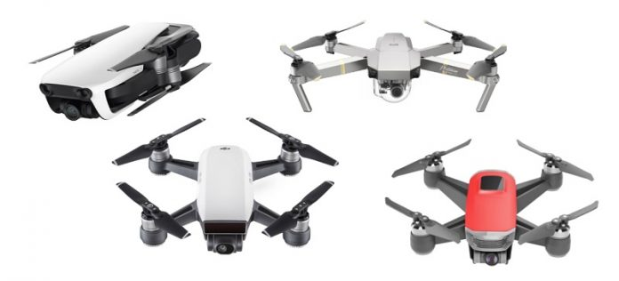 DJI Mavic Air vs Mavic Pro vs Spark vs Walkera Peri comparison