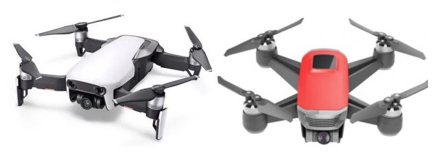 DJI Mavic Air vs Walkera Peri side by side