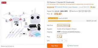 Phantom 3 Standard for sale from Europe