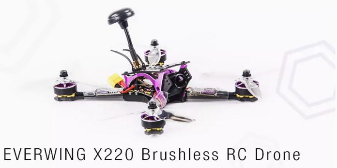 EVERWING X220 racing quadcopter