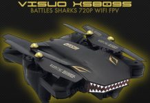 VISUO XS809S Battles Sharks drone