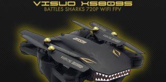 VISUO XS809S Battles Sharks drone