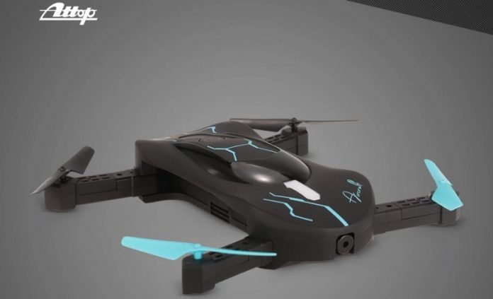 Attop XT-3 selfie drone quadcopter