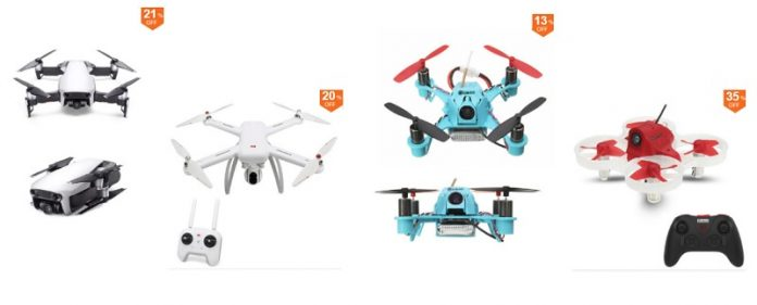 Drone deals and discount coupons for April 2018