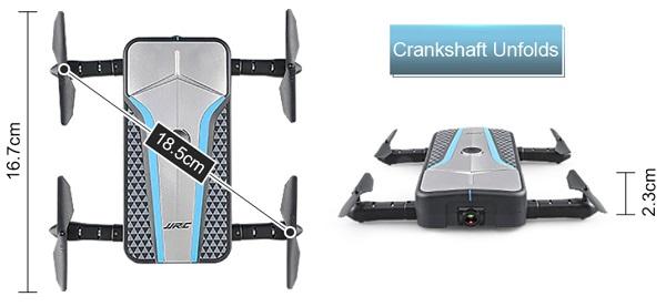 JJRC H62 drone size