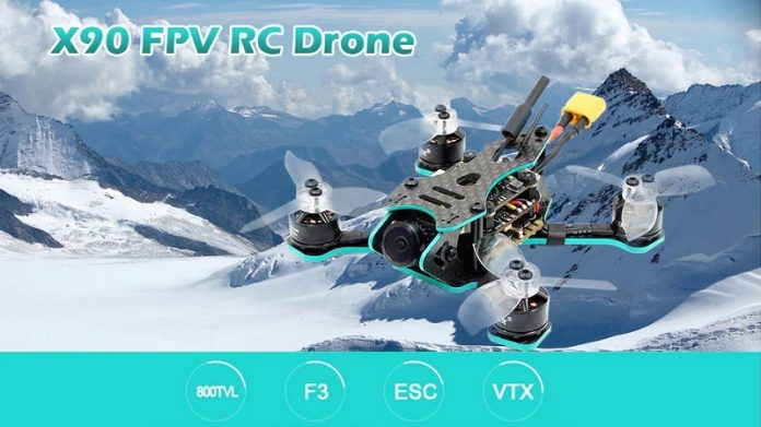 90mm racing drone with FPV camera